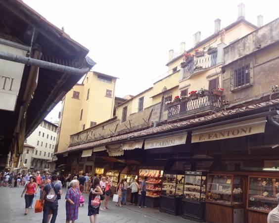 Butikker på broen Ponte Veccio