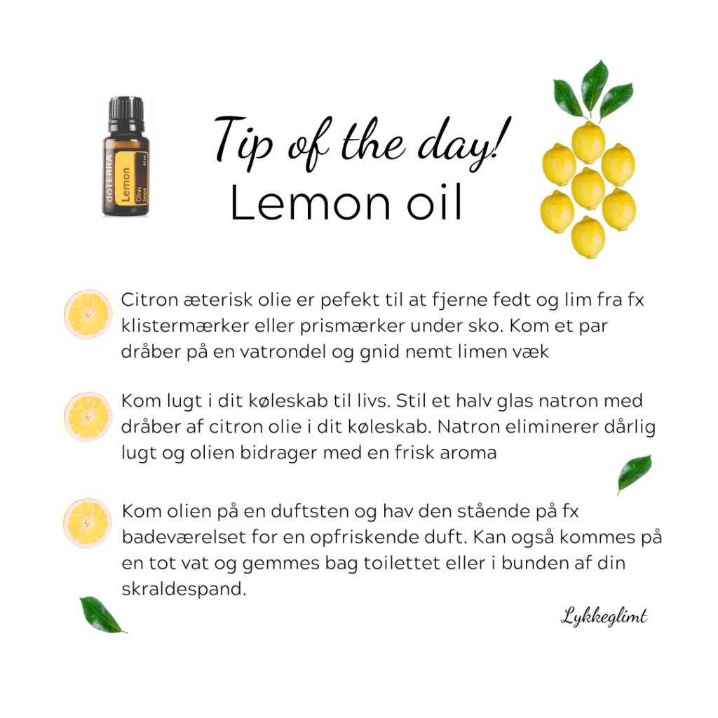 Tips til praktisk brug af øterisk citron olie